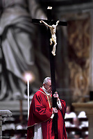 Pope Francis  Good Friday Passion  the Lord Mass in Saint Peter's Basilica the Vatican.March 30,2018