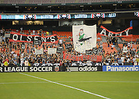 Members of the Barra Brava showing support for the new Head Coach Ben Olsen.  FC Dallas defeated DC United 3-1 at RFK Stadium, Saturday August 14, 2010.