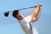 Jack McDonnell (Forrest Little) on the 17th tee during Round 2 - Strokeplay of the North of Ireland Championship at Royal Portrush Golf Club, Portrush, Co. Antrim on Tuesday 10th July 2018.<br /> Picture:  Thos Caffrey / Golffile