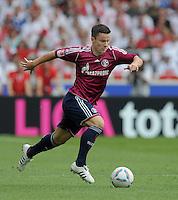 FUSSBALL   1. BUNDESLIGA  SAISON 2011/2012   1. Spieltag     06.08.2011 VfB Stuttgart - FC Schalke 04               Alexander Baumjohann (FC Schalke 04) am Ball