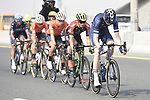 The breakaway group during Stage 4 The Municipality Stage of the Dubai Tour 2018 the Dubai Tour&rsquo;s 5th edition, running 172km from Skydive Dubai to Hatta Dam, Dubai, United Arab Emirates. 9th February 2018.<br /> Picture: LaPresse/Fabio Ferrari | Cyclefile<br /> <br /> <br /> All photos usage must carry mandatory copyright credit (&copy; Cyclefile | LaPresse/Fabio Ferrari)