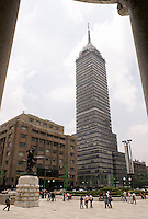 The Latin American Tower or Torre Latinoamericana in downtown Mexico City
