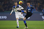 Alessandro Bastoni of Inter clears the ball from Josip Ilicic of Atalanta during the Serie A match at Giuseppe Meazza, Milan. Picture date: 11th January 2020. Picture credit should read: Jonathan Moscrop/Sportimage