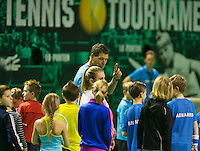 12-02-14, Netherlands,Rotterdam,Ahoy, ABNAMROWTT, Sven Groeneveld(NED) Kids day <br /> Photo:Tennisimages/Henk Koster