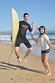 Stock Photo of young couple at the beach