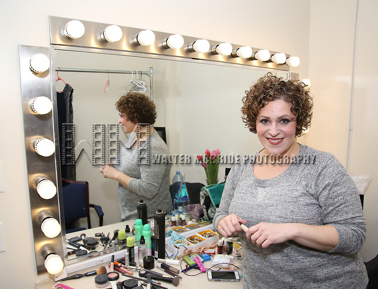 Lucia Spina backstage at  The American Pops Orchestra '75 Years of Streisand'  at the George Washington University Lisner Auditorium on January 13, 2017 in New York City.