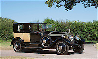 BNPS.co.uk (01202 558833)<br /> Pic: Bonhams/BNPS<br /> <br /> Palace on wheels - unique Rolls Royce with an interior inspired by Marie Antoinette.<br /> <br /> Possibly the worlds most luxurious Rolls Royce with an amazing interior that wouldn't look out of place at the Palace of Versailles has emerged at auction. <br /> <br /> American Woolworths heir C.W. Gasque ordered the car for his wife in 1926, and was inspired to modify the cabin of the Phantom I after seeing a sedan chair that had belonged to Marie Antoinette displayed at the V&amp;A museum.<br /> <br /> The stunning bespoke interior features satinwood marquetry cabinets, a painted ceiling with cupids and cherubs, and embroided seats made from historic tapestries.<br /> <br /> Your aristocratic progress is further enhanced by a crystal decanter, silver service, confectionary bowl, french flower vases and silk curtains.<br /> <br /> However you may need a Sun King's ransom to buy the magnificent machine when its sold by Bonhams on December 4th with an estimate of &pound;700,000.