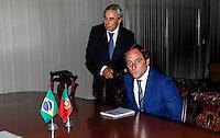 ATENCAO EDITOR: FOTO EMBARGADA PARA VEICULOS INTERNACIONAIS - BRASILIA, DF, 06 SETEMBRO 2012 - ENCONTRO MINISTROS BRASIL E PORTUGAL - O chanceler portugues Ministro Paulo Portas durante encontro com o Ministro das Relações Exteriores, Antonio de Aguiar Patriota, no Palacio do Itamaraty em Brasilia, nesta quinta-feira, 06. (FOTO: VANESSA CARVALHO / BRAZIL PHOTO PRESS).