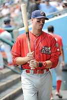 Williamsport Crosscutters outfielder Matt Shortall (13) during game against the Brooklyn Cyclones at MCU Park on July 21, 2014 in Brooklyn, NY.  Brooklyn defeated Williamsport  5-2.  (Tomasso DeRosa/Four Seam Images)