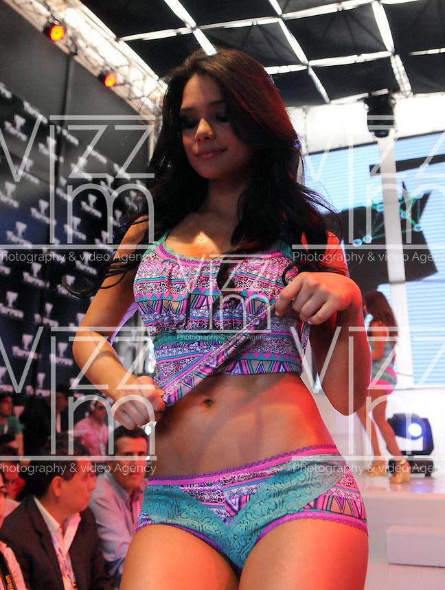 MEDELL&ecirc;N -COLOMBIA-24-JULIO-2013.   Stand  Tarrao de ropa interior en Colombiamoda . Stand underwear Tarrao Colombiamoda<br /> . Photo: VizzorImage/ Javier Jaramillo  / Stringer