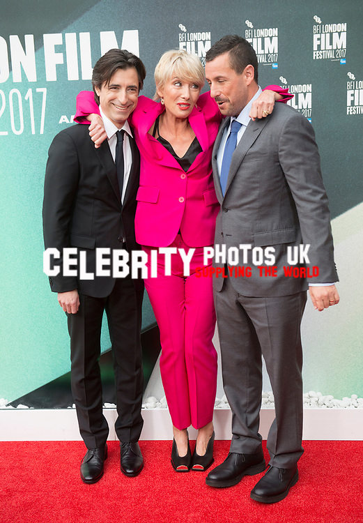 Noah Baumbach, Emma Thompson & Adam Sandler at the 'The Meyerowitz Stories' premiere, BFI London Film Festival, UK  6th Oct 2017