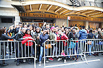 Students arrive during during the Gilder Lehman Institute of American History Education Matinee of 'Hamilton' at the Richard Rodgers  Theatre on November 2, 2016 in New York City.