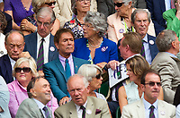 Sir Cliff Richard at Centre Court for the Gentlemen's Singles Final<br /> <br /> Photographer Ashley Western/CameraSport<br /> <br /> Wimbledon Lawn Tennis Championships - Day 13 - Sunday 16th July 2017 -  All England Lawn Tennis and Croquet Club - Wimbledon - London - England<br /> <br /> World Copyright &copy; 2017 CameraSport. All rights reserved. 43 Linden Ave. Countesthorpe. Leicester. England. LE8 5PG - Tel: +44 (0) 116 277 4147 - admin@camerasport.com - www.camerasport.com