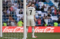 Real Madrid's Mariano Diaz celebrates goal during La Liga match between Real Madrid and Villarreal CF at Santiago Bernabeu Stadium in Madrid, Spain. May 05, 2019. (ALTERPHOTOS/A. Perez Meca)<br /> Liga Campionato Spagna 2018/2019<br /> Foto Alterphotos / Insidefoto <br /> ITALY ONLY