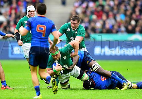13.02.2016. Stade de France, Paris, France. 6 Nations Rugby international. France versus Ireland.  Jamie Heslip ( Ireland )