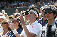 A Kei Nishikori fan<br /> <br /> Photographer Rob Newell/CameraSport<br /> <br /> Wimbledon Lawn Tennis Championships - Day 4 - Thursday 4th July 2019 -  All England Lawn Tennis and Croquet Club - Wimbledon - London - England<br /> <br /> World Copyright © 2019 CameraSport. All rights reserved. 43 Linden Ave. Countesthorpe. Leicester. England. LE8 5PG - Tel: +44 (0) 116 277 4147 - admin@camerasport.com - www.camerasport.com