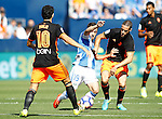 CD Leganes' Unai Lopez (c) and Valencia CF's Daniel Parejo (l) and Mario Suarez during La Liga match. September 25,2016. (ALTERPHOTOS/Acero)