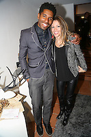 Jamal (@stylesocietyguy) and Janine (of Janine Just) at Creeds Collective Pop Up Shop at 54 Crosby Street, New York, New York on November 19, 2014. (Photos by Sara Wass)