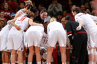 STANFORD, CA - January 21, 2012: Stanford Cardinal's Chiney Ogwumike fires up the team before Stanford's 65-47 victory over Washington at Maples Pavilion.
