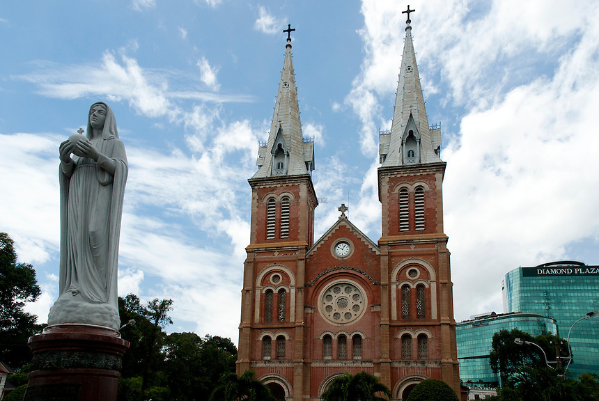 Saigon Catholic Cathedral with Madonna