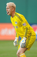 Kansas City Wizards goalkeeper Jimmy Nielsen (1).  DC United defeated The Kansas City Wizards  2-0 at RFK Stadium, Wednesday  May 5, 2010.