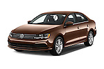 2017 Volkswagen Jetta S 4 Door Sedan Angular Front stock photos of front three quarter view