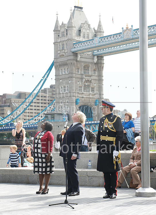 Raising the flag for Armed Forces Day <br /> at City Hall, London, Great Britain <br /> <br /> 20th June 2011<br /> <br /> Boris Johnson <br /> Mayor of London<br /> <br /> Brigadier Matthew Lowe MBE.<br /> <br /> Jennette Arnold <br /> is a Labour Party politician and member of the London Assembly representing the London Boroughs of Hackney, Islington and Waltham Forest.<br /> <br /> Photograph by Elliott Franks
