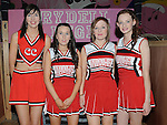 Cheerleaders Trisha McKenna, Hannah Kearney, Ciara Callan and Eimhear Byrne in Ardee Community school's production of Grease at Ardee Parish Centre. Photo: Colin Bell/pressphotos.ie