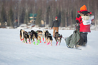 Ksenia Deits At the start of the 2016 Junior Iditarod Sled Dog Race on Willow Lake  in Willow, AK February 27, 2016