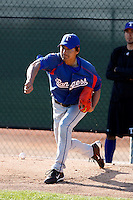 Kazuo Fukumori  - Texas Rangers - 2009 spring training.Photo by:  Bill Mitchell/Four Seam Images