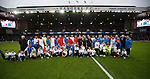 Rangers Select and the All Stars with Fernando Ricksen ahead of kick-off