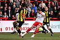 Chris Beardsley of Stevenage shoots. - Stevenage v Brentford - npower League 1 - Lamex Stadium, Stevenage - 21st April, 2012. © Kevin Coleman 2012
