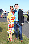 Sarah and Tony Carley at the Bellewstown Races 2011...(Photo credit should read Jenny Matthews www.newsfile.ie)....This Picture has been sent you under the conditions enclosed by:.Newsfile Ltd..The Studio,.Millmount Abbey,.Drogheda,.Co Meath..Ireland..Tel: +353(0)41-9871240.Fax: +353(0)41-9871260.GSM: +353(0)86-2500958.email: pictures@newsfile.ie.www.newsfile.ie.