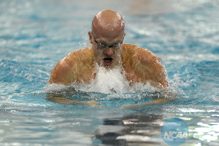 Eetu Karvonen of Grand Canyon University finishes first in the breaststroke at the NCAA Division II National Championships Festival in Birmingham, AL, Saturday, March 9, 2013. (Peter Lockley/NCAA Photos).