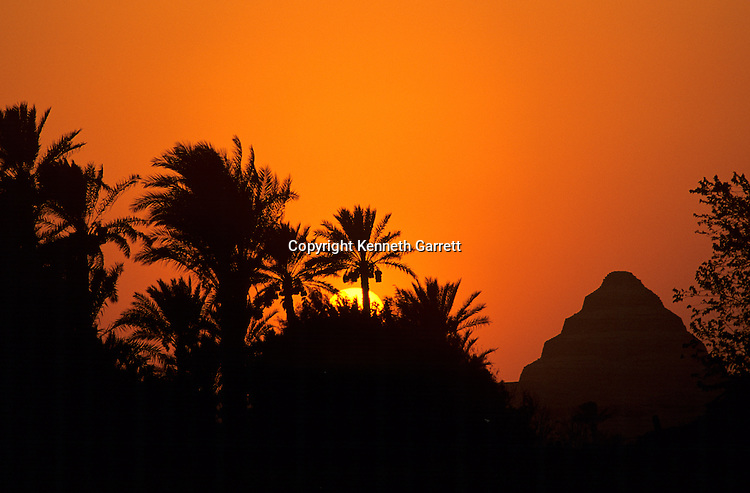 Egypt's Old Kingdom; Sunset on the Step Pyramid of Djoser; Saqqara; Egypt