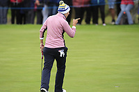 Carlota Ciganda of Team Europe on the 4th green during Day 2 Foursomes at the Solheim Cup 2019, Gleneagles Golf CLub, Auchterarder, Perthshire, Scotland. 14/09/2019.<br /> Picture Thos Caffrey / Golffile.ie<br /> <br /> All photo usage must carry mandatory copyright credit (© Golffile | Thos Caffrey)