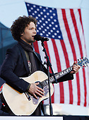 New York, NY - November 11, 2008 -- Justin Guarini performs before United States President George W. Bush takes the podium on Veteran's Day at the rededication ceremony of the Intrepid Sea, Air and Space Museum in New York City on Tuesday, November 11, 2008. <br /> Credit: John Angelillo - Pool via CNP