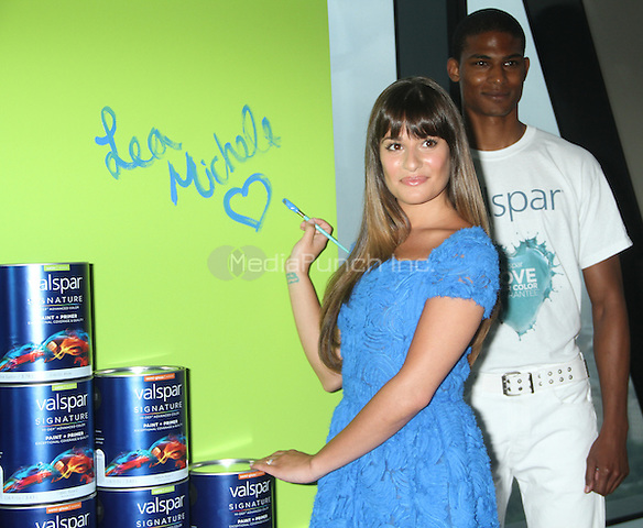 NEW YORK, NY-July 20, 2012: Lea Michele and Valspar Paint unveil the Celebrity Handprints to be Auctioned for Habitat for Humanity at Hearst Tower in New York City. © RW/MediaPunch Inc.