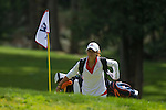 April 15, 2014; Bremerton, WA, USA; Pepperdine Waves golfer Alina Ching during the WCC Golf Championships at Gold Mountain Golf Club.