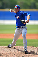 Toronto Blue Jays pitcher Justin Shafer (76) during a minor league spring training game against the New York Yankees on March 24, 2015 at the Englebert Complex in Dunedin, Florida.  (Mike Janes/Four Seam Images)