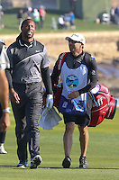 160213 Cardinal Larry Fitzgerald during Saturday's Third Round of The AT&T National Pro Am at The Pebble Beach Golf Links in Carmel, California. (photo credit : kenneth e. dennis/kendennisphoto.com)