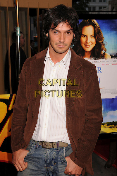 """EZEQUIEL STREMIZ.""""Under The Same Moon"""" Los Angeles Special Screening at Grauman's Egyptian Theatre, USA,.Hollywood, California.11 March 2008 .half length brown jacket.CAP/ADM/BP.?Byron Purvis/Admedia/Capital PIctures"""