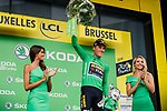 Mike Teunissen (NED) Team Jumbo-Visma wins Stage 1 and wears the first Green and Yellow Jerseys of the 106th Tour de France running 194.5km from Brusells to Brussels, 6 July 2019. Photo by Thomas van Bracht / PelotonPhotos.com | All photos usage must carry mandatory copyright credit (Peloton Photos | Thomas van Bracht)