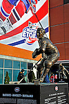 "25 January 2009: A bronze statue of Montreal Canadiens legend Maurice ""the Rocket"" Richard stands outside the Bell Centre prior to the 2009 NHL All-Star Game in Montreal, Quebec, Canada. The Eastern Conference defeated the Western Conference 12-11 in a shootout. ***** Editorial Sales Only ***** Mandatory Photo Credit: Ed Wolfstein Photographer"