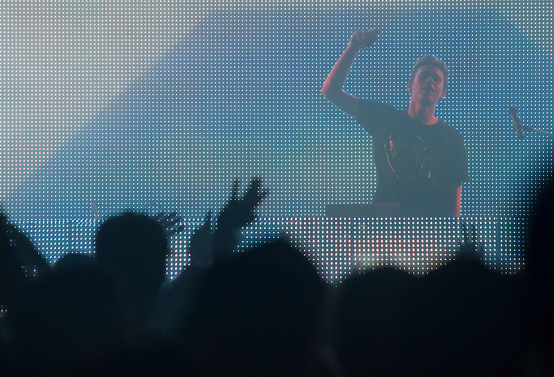 Flume performs in Portland as part of the Music Festival North West 2013.