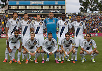 Los Angeles Galaxy Starting XI pose together for group photo before the game against the Earthquakes at Buck Shaw Stadium in Santa Clara, California on October 21st, 2012.  San Jose Earthquakes and Los Angeles Galaxy tied at 2-2.