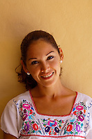 A beautiful young Mexican woman, Playa Mazatlan Hotel, Mazatlan, Sinaloa, Mexico