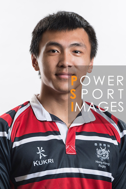 Hong Kong Junior Squad team member Eric Kwok poses during the Official Photo Session Day at King's Park Sports Ground ahead the Junior World Rugby Tournament on 25 March 2014. Photo by Andy Jones / Power Sport Images
