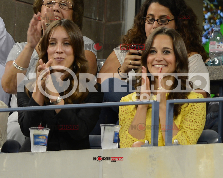 FLUSHING NY- SEPTEMBER 5:  Pippa Middleton is sighted watching the Federer Vs Berdych match on Arthur Ashe stadium at the USTA Billie Jean King National Tennis Center on September 5, 2012 in in Flushing Queens. Credit: mpi04/MediaPunch Inc. ***NO NY NEWSPAPERS*** /NortePhoto.com<br /> <br /> **CREDITO*OBLIGATORIO** *No*Venta*A*Terceros*<br /> *No*Sale*So*third* ***No*Se*Permite*Hacer...<br /> more »