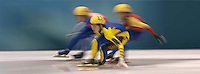Ladies 1000m qualifying rounds, Wednesday evening at the Salt Lake Ice Center, 2002 Olympic Winter Games.&amp;#xA; 02.20.2002, 7:16:31 PM<br />